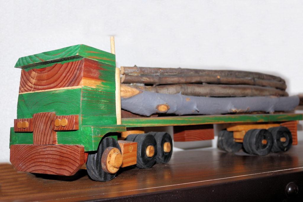 Hand Tooled Logging Truck